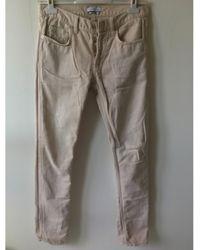 Sandro Jeans slim coton beige - Neutre