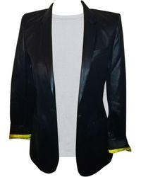 Barbara Bui Blazer, veste tailleur acetate, viscose, elasthane bleu