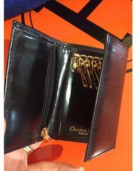 Dior - Porte-clés cuir noir - Lyst
