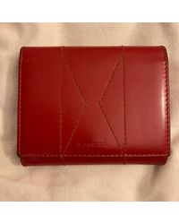 Lancel Portefeuille cuir rouge