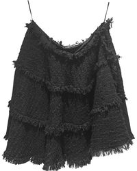 Lanvin Jupe mi-longue laine noir