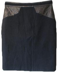 Gerard Darel - Jupe courte laine noir - Lyst