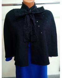 Prabal Gurung - Cape laine mélangée noir Taille unique - Lyst