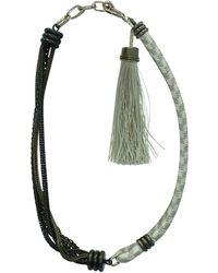 Lanvin - Collier métal doré - Lyst