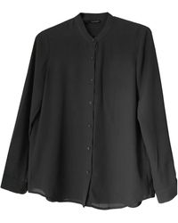 The Kooples - Chemise polyester gris - Lyst