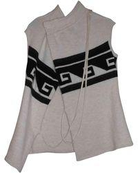 Isabel Marant Gilet sans manches alpaga, acrylique, laine, polyamide blanc