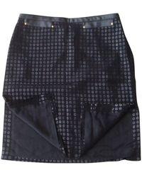 Versace Tailleur jupe laine mélangée noir