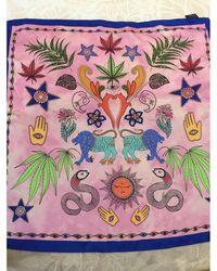 Sandro Foulard soie multicolore