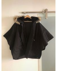 The Kooples - Parka coton noir - Lyst
