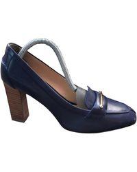 Tod's Escarpins cuir bleu