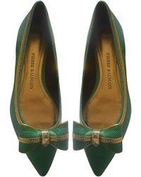 Balmain Ballerines cuir vert