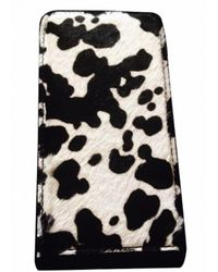 Burberry Etui iPhone cuir noir
