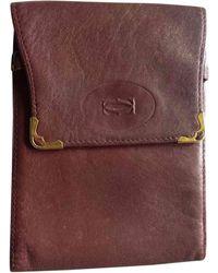 Cartier Porte-chéquier cuir rouge