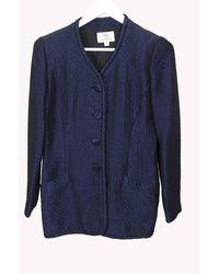 Balmain - Blazer, veste tailleur synthétique bleu - Lyst
