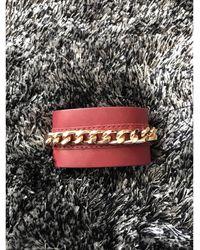 Sandro Bracelet cuir rouge