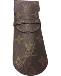 Louis Vuitton Pochette cuir marron