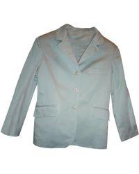 Maje - Blazer, veste tailleur coton vert - Lyst