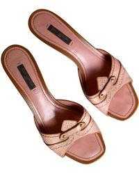 Louis Vuitton Mules cuir rose