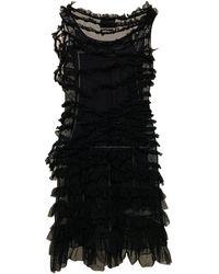 Jean Paul Gaultier Robe mi-longue synthétique noir