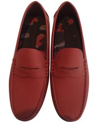 Louis Vuitton Mocassins cuir rouge