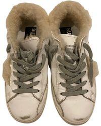 Golden Goose Deluxe Brand - Baskets peau retournée blanc - Lyst