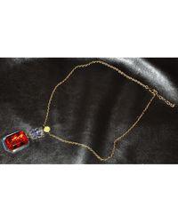 Louis Vuitton Pendentif, collier pendentif résine rouge