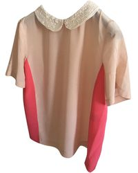 Maje - Blouse soie rose - Lyst