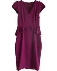 Karen Millen - Robe mi-longue triacétate violet - Lyst