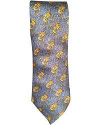 Lanvin Cravate soie bleu