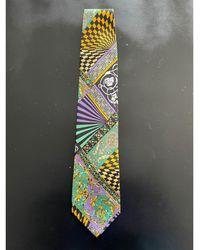 Versace Cravate soie multicolore