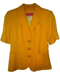 Christian Lacroix - Tailleur jupe polyester jaune - Lyst