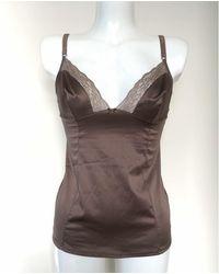 Dolce & Gabbana - Top, tee-shirt - marron - Lyst