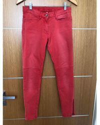 Sandro Jeans slim coton autre - Rouge