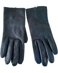 Longchamp Gants cuir bleu
