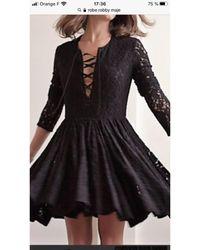 Maje Robe courte polyester noir