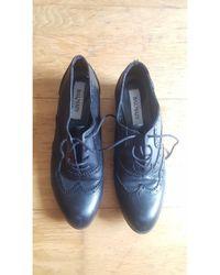 Balmain Chaussures à lacets cuir noir