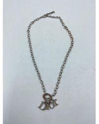 Dior Pendentif, collier pendentif métal argent - Métallisé