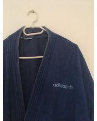 adidas Peignoir coton bleu