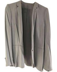 The Kooples Blazer, veste tailleur viscose argent - Métallisé