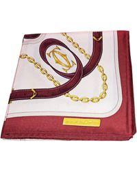Cartier Foulard soie blanc