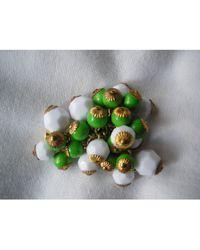Balmain Broche plastique multicolore - Vert