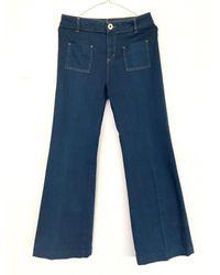 Maje Jeans évasé, boot-cut coton bleu
