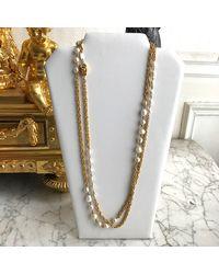 Chanel Sautoir plaqué or doré - Métallisé