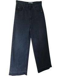 Étoile Isabel Marant - Jeans très evasé, patte d'éléphant coton gris - Lyst