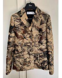 Dior Blazer, veste tailleur soie autre - Multicolore