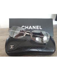 Chanel Lunettes de soleil argent - Métallisé