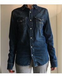 Sandro Chemise denim, jean bleu