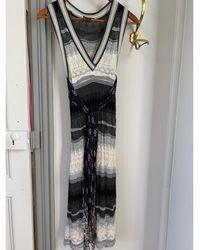 Jean Paul Gaultier Robe mi-longue polyamide gris
