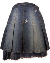 Blumarine - Jupe courte denim, jean bleu - Lyst