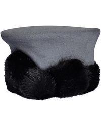 Lanvin Chapeau laine gris